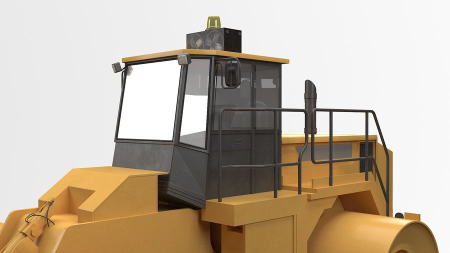 Construction Truck royalty-free 3d model - Preview no. 8