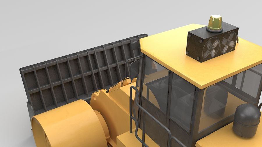 Construction Truck royalty-free 3d model - Preview no. 11