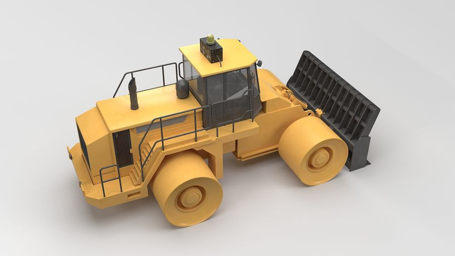 Construction Truck royalty-free 3d model - Preview no. 4