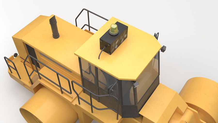 Construction Truck royalty-free 3d model - Preview no. 7