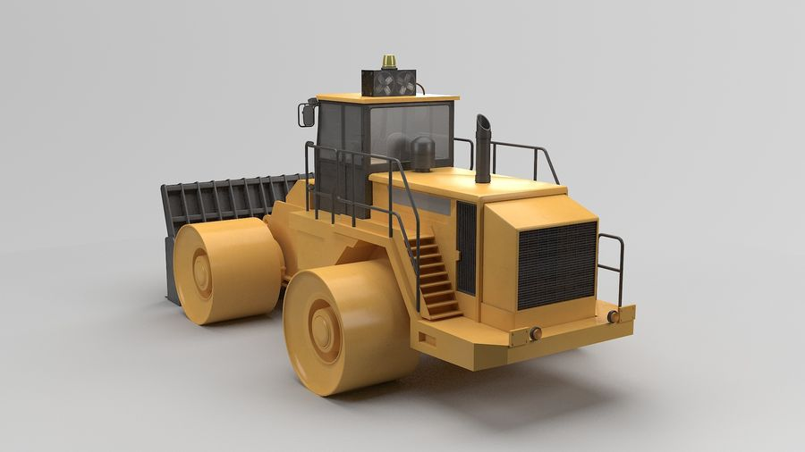 Construction Truck royalty-free 3d model - Preview no. 3