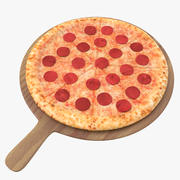 Pizza 02 3D Model 3d model