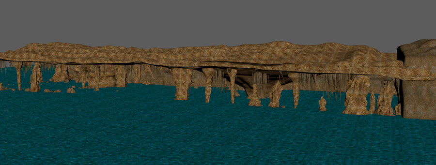 Caves of Drach, Mallorca, Balearic Islands. royalty-free 3d model - Preview no. 10