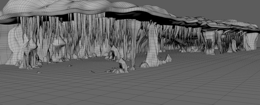 Caves of Drach, Mallorca, Balearic Islands. royalty-free 3d model - Preview no. 9