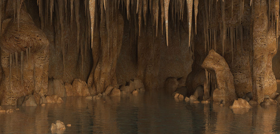 Caves of Drach, Mallorca, Balearic Islands. royalty-free 3d model - Preview no. 7