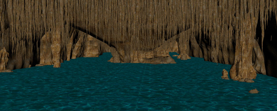 Caves of Drach, Mallorca, Balearic Islands. royalty-free 3d model - Preview no. 15
