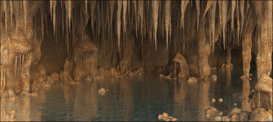 Caves of Drach, Mallorca, Balearic Islands. royalty-free 3d model - Preview no. 1