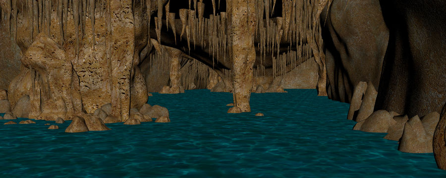 Caves of Drach, Mallorca, Balearic Islands. royalty-free 3d model - Preview no. 12