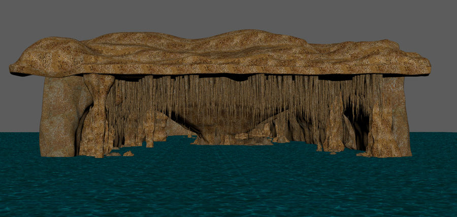 Caves of Drach, Mallorca, Balearic Islands. royalty-free 3d model - Preview no. 19