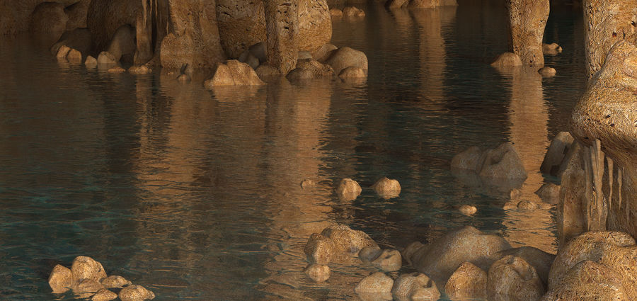 Caves of Drach, Mallorca, Balearic Islands. royalty-free 3d model - Preview no. 6