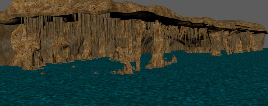 Caves of Drach, Mallorca, Balearic Islands. royalty-free 3d model - Preview no. 8