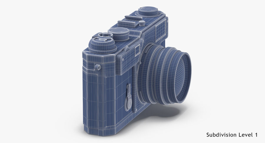 Vintage Camera royalty-free 3d model - Preview no. 18