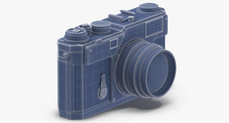 Vintage Camera royalty-free 3d model - Preview no. 12