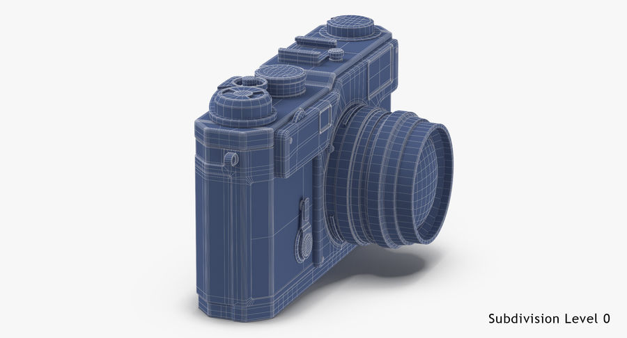 Vintage Camera royalty-free 3d model - Preview no. 17