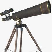 Teleskop antika 3d model