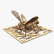 Animowane cięcie laserowe pszczół 3d model