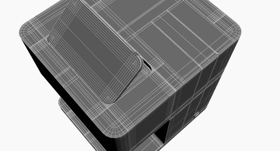 3D Selfieコーヒープリンター機械モデル royalty-free 3d model - Preview no. 16