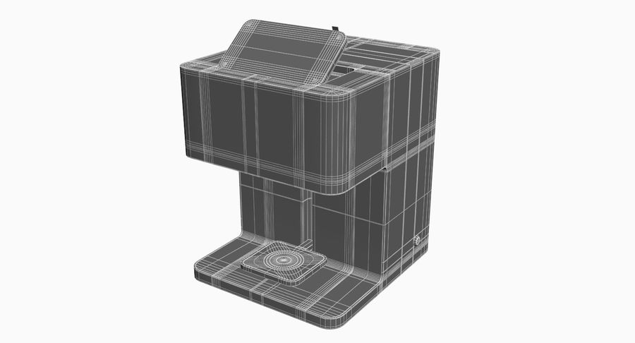 3D Selfieコーヒープリンター機械モデル royalty-free 3d model - Preview no. 12