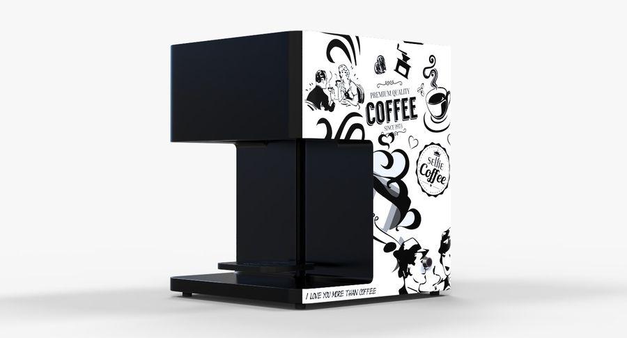 3D Selfieコーヒープリンター機械モデル royalty-free 3d model - Preview no. 4