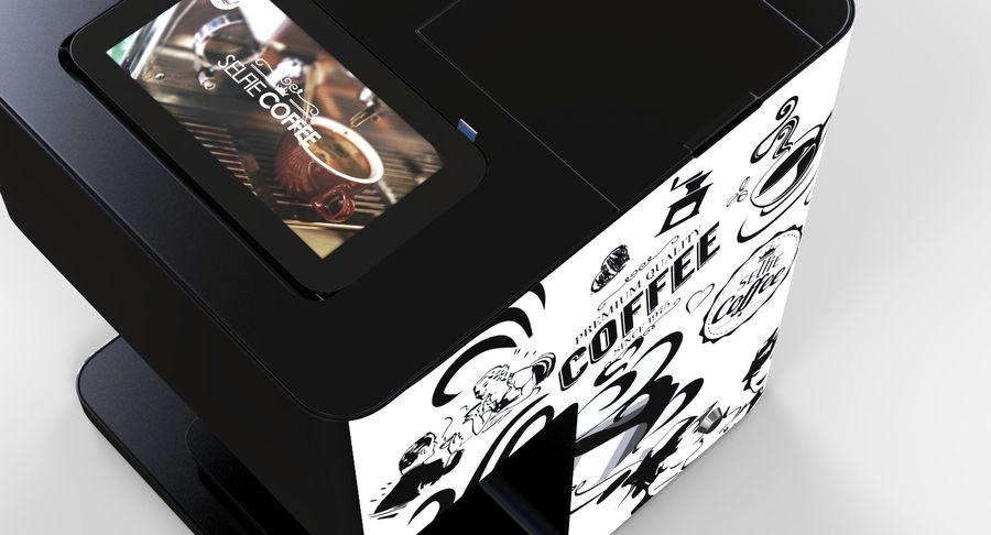 3D Selfieコーヒープリンター機械モデル royalty-free 3d model - Preview no. 10