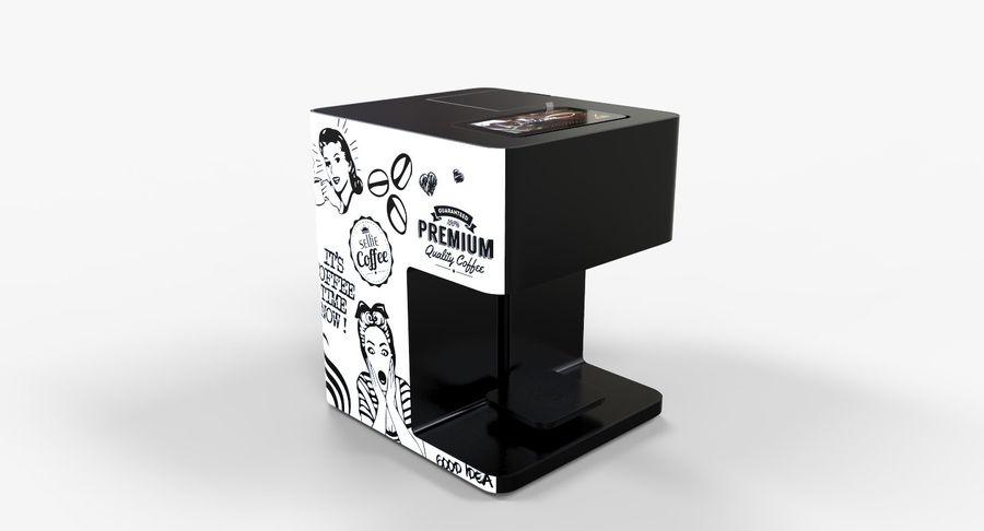 3D Selfieコーヒープリンター機械モデル royalty-free 3d model - Preview no. 3