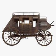 驿马车 3d model