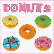 Donuts Collection 3d model
