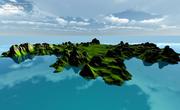 Mapa da ilha 3d model