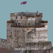 摩尔城堡-直布罗陀-优化 3d model