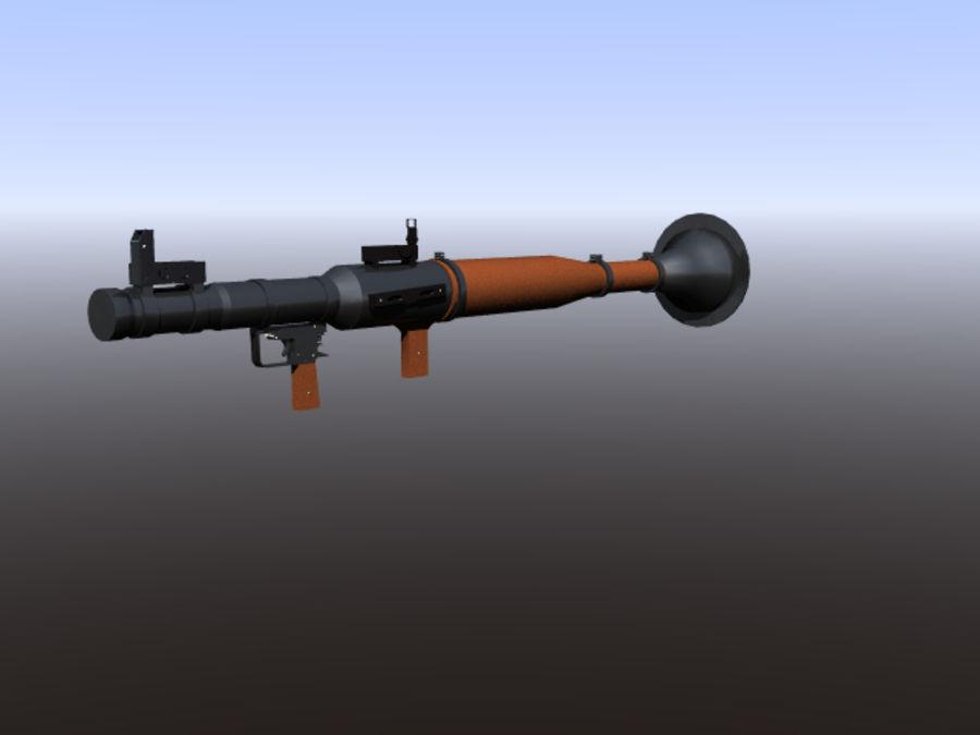 角色扮演游戏7(枪与火箭) royalty-free 3d model - Preview no. 3