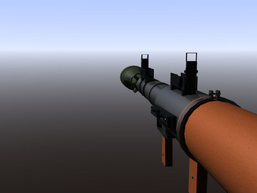 角色扮演游戏7(枪与火箭) royalty-free 3d model - Preview no. 12