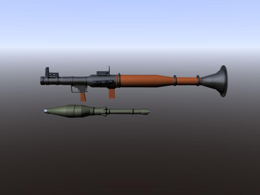 角色扮演游戏7(枪与火箭) royalty-free 3d model - Preview no. 2