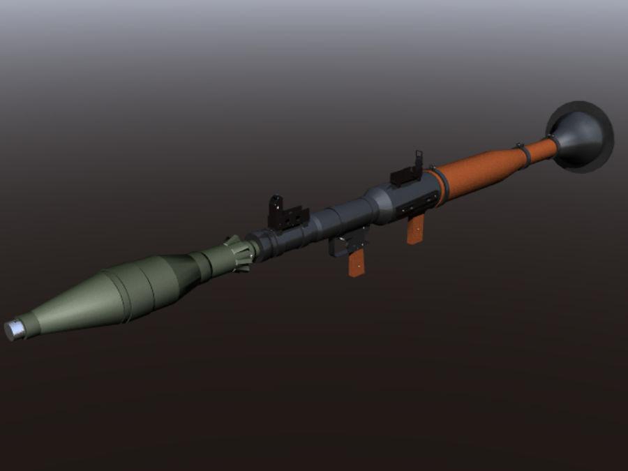 角色扮演游戏7(枪与火箭) royalty-free 3d model - Preview no. 1