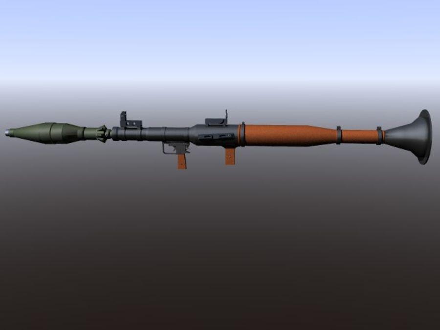 角色扮演游戏7(枪与火箭) royalty-free 3d model - Preview no. 5