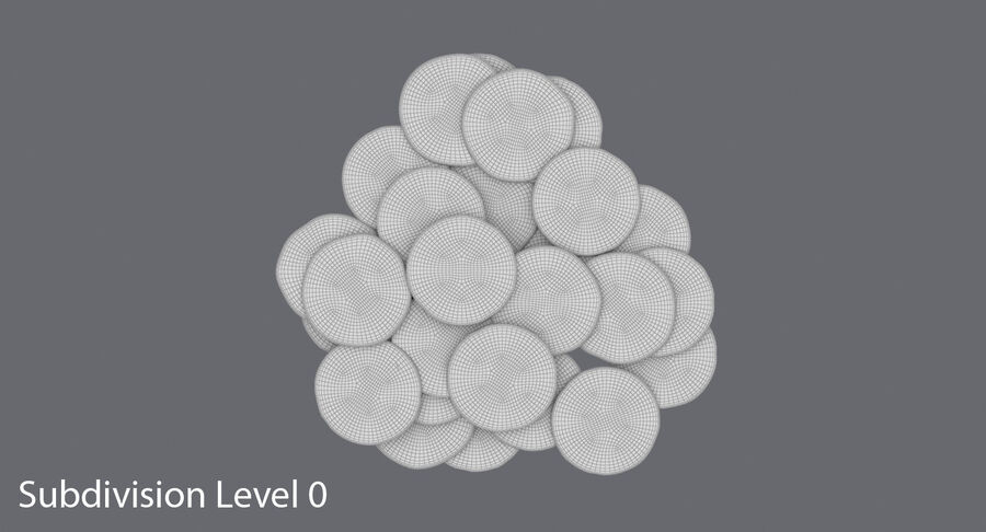 Goldmünzen Dirty Pile royalty-free 3d model - Preview no. 13