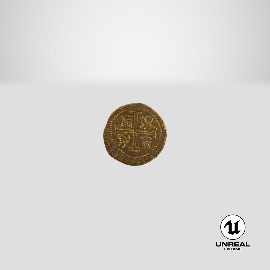 Goldmünzen Dirty Pile royalty-free 3d model - Preview no. 24