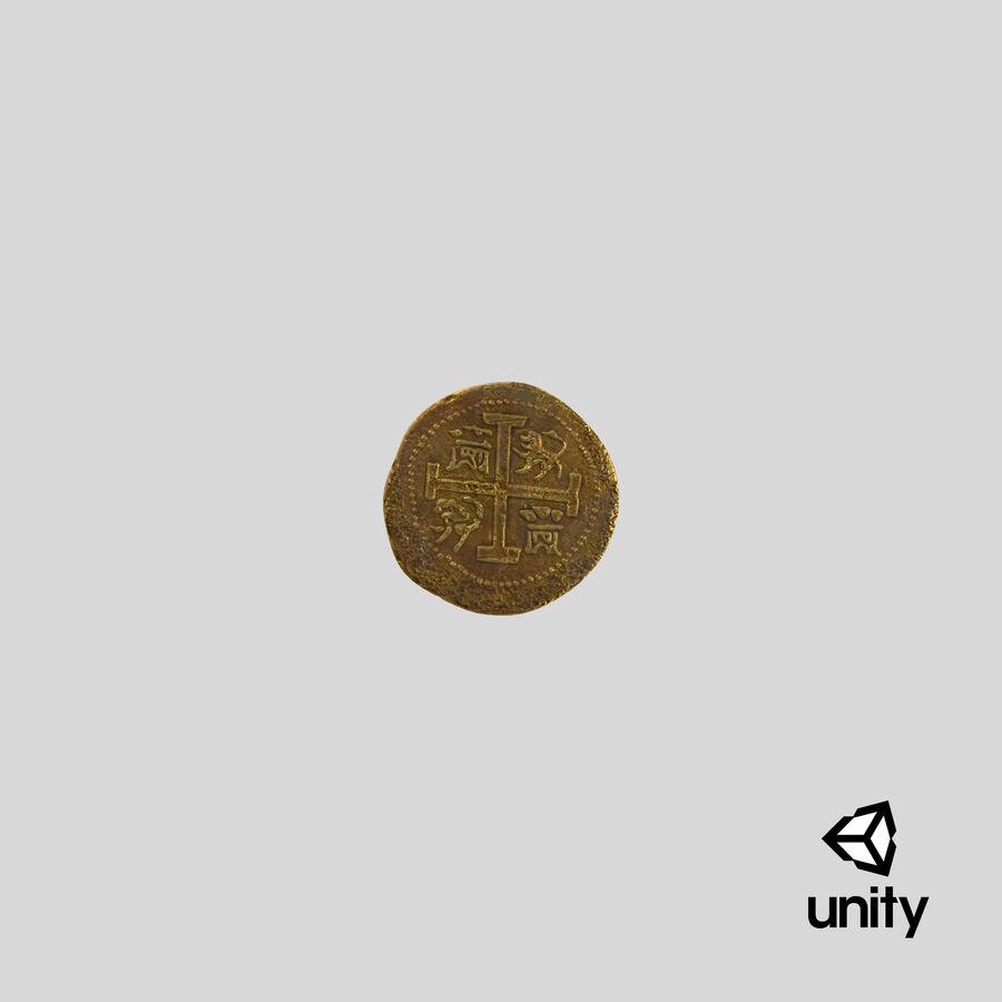Goldmünzen Dirty Pile royalty-free 3d model - Preview no. 25
