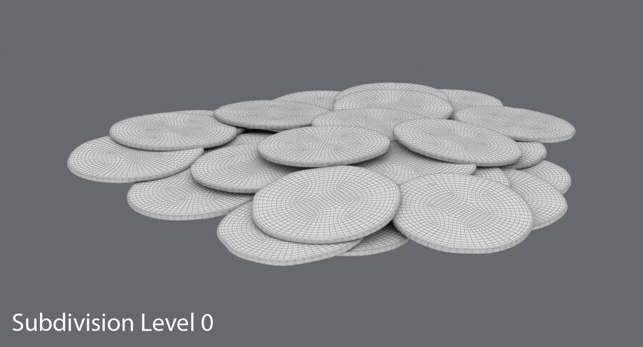Goldmünzen Dirty Pile royalty-free 3d model - Preview no. 12