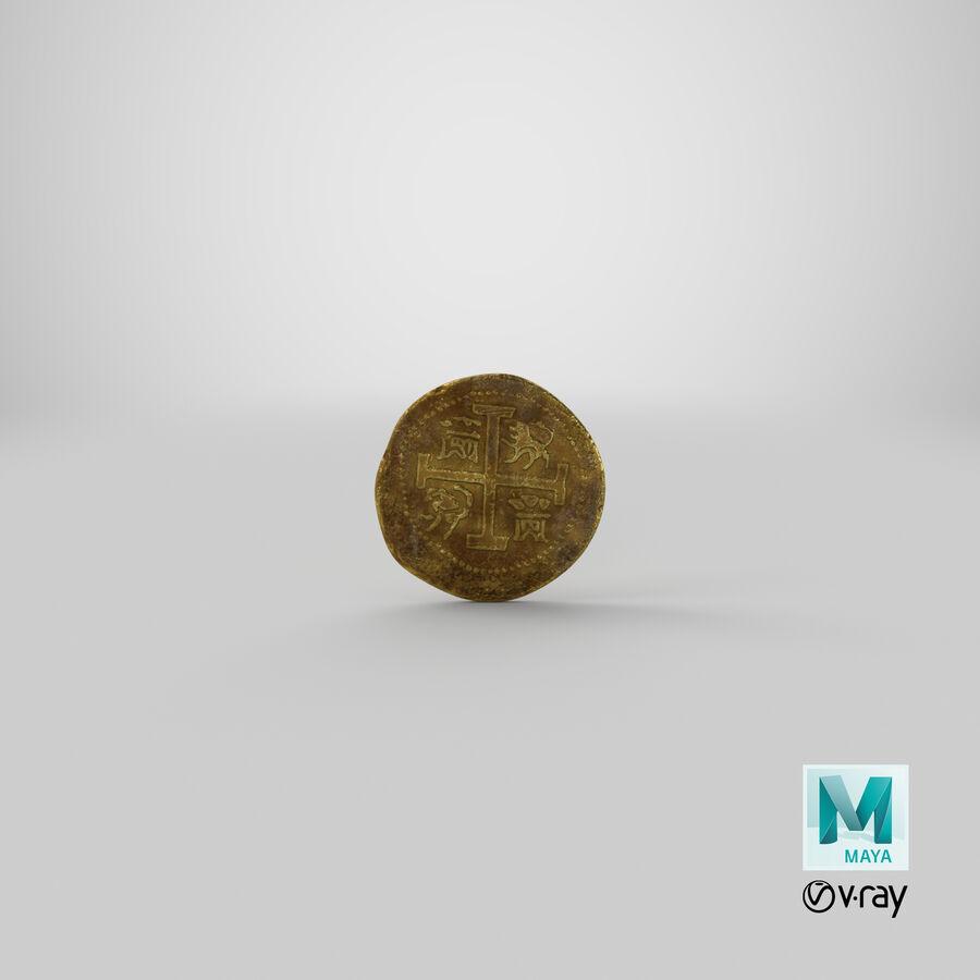 Goldmünzen Dirty Pile royalty-free 3d model - Preview no. 19