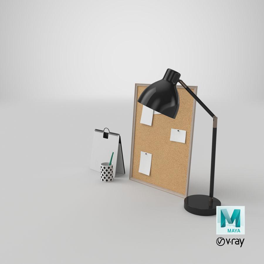Juego de escritorio de diseño 01 royalty-free modelo 3d - Preview no. 20