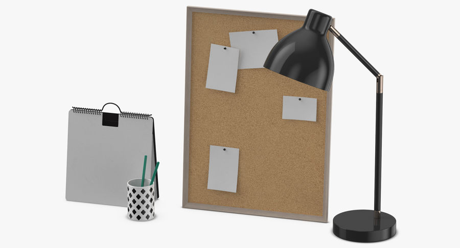 Juego de escritorio de diseño 01 royalty-free modelo 3d - Preview no. 6