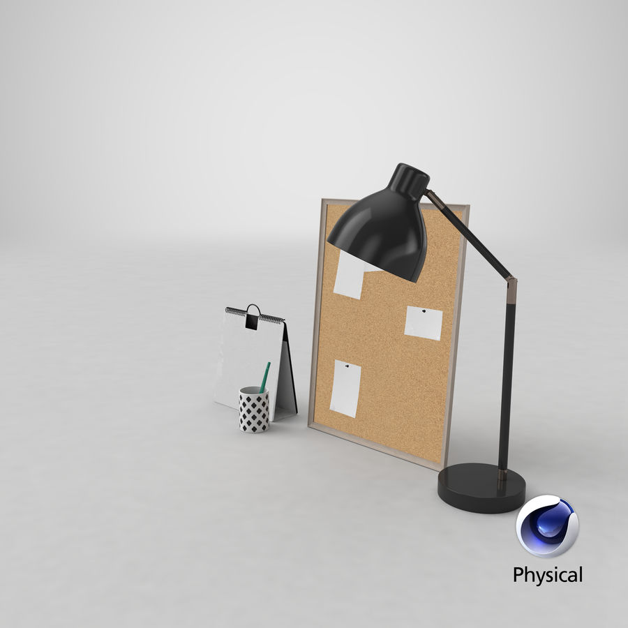 Juego de escritorio de diseño 01 royalty-free modelo 3d - Preview no. 24