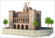 Almudaina Palace, Mallorca, Balearic Islands. 3d model