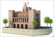 Almudaina Palace, Mallorca, Balearic Islands. 3d model
