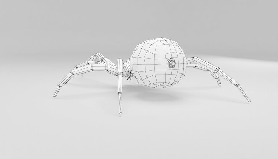 Wolf Spider royalty-free 3d model - Preview no. 12