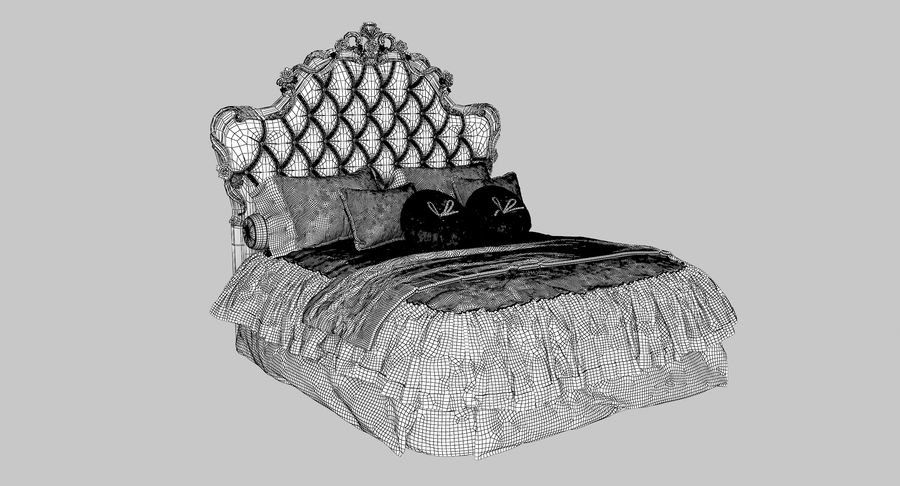 Синьорини и Коко Collezione Forever Bed royalty-free 3d model - Preview no. 10