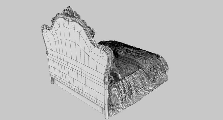 Синьорини и Коко Collezione Forever Bed royalty-free 3d model - Preview no. 11