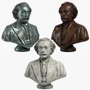 Einstein Büste 3d model