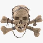 Pirat Skull_PBR 3d model