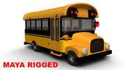 Мультфильм школьный автобус 3d model